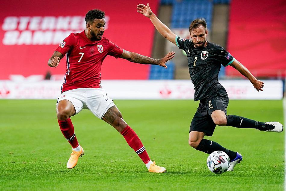 欧国联挪威1-2奥地利