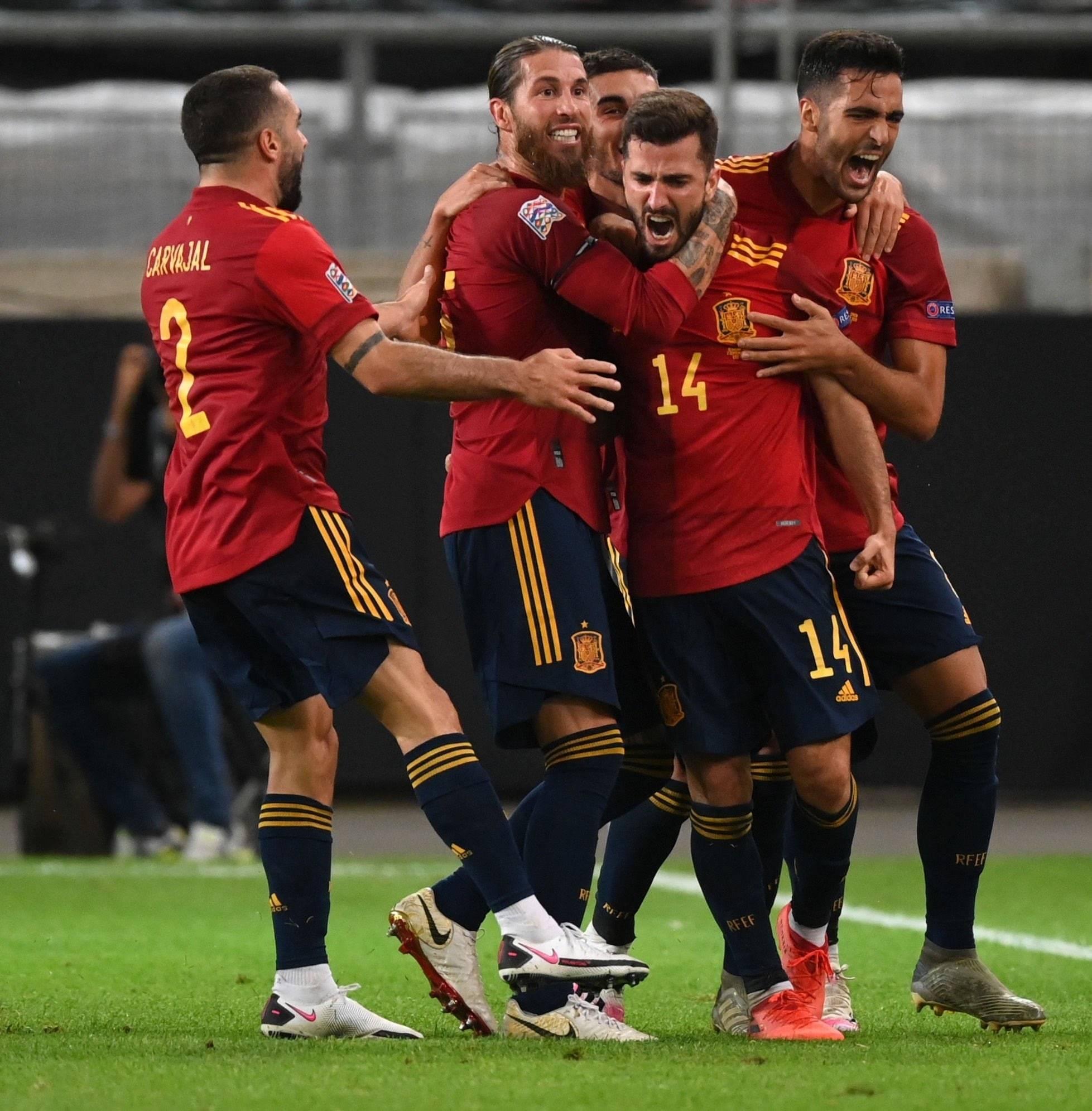 欧国联第一轮比赛德国队1:1西班牙人队,维尔纳与加亚各进一球-4