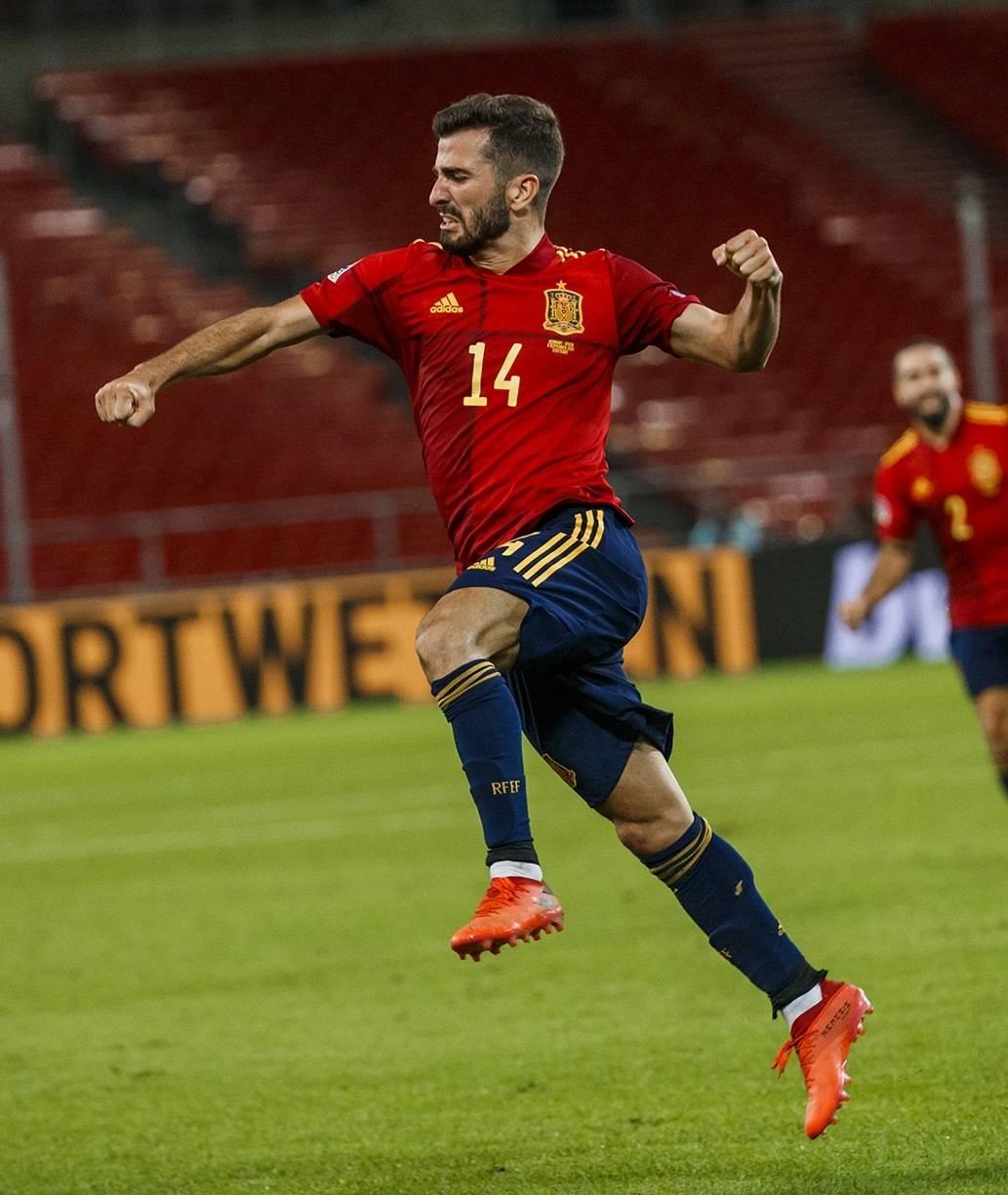 欧国联第一轮比赛德国队1:1西班牙人队,维尔纳与加亚各进一球-5