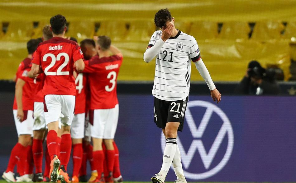 欧国联德国男足3-3瑞士,切尔西双枪维尔纳