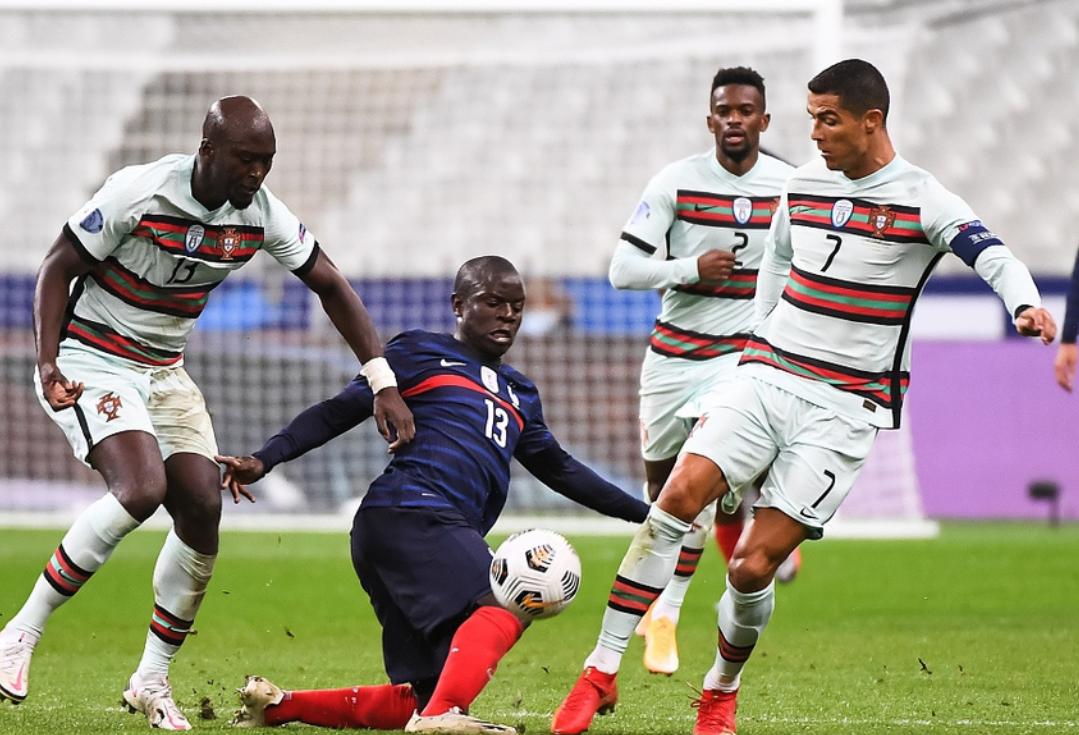 欧国联第3轮法国0:0战平葡萄牙,两队最终握手言和