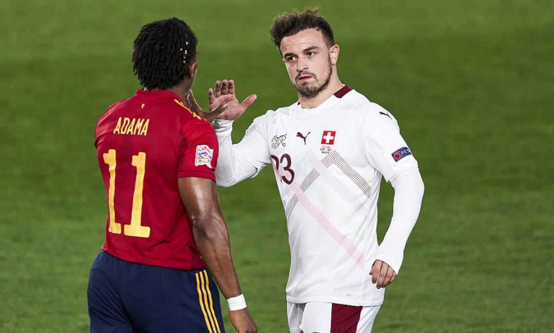 欧国联第三轮西班牙1:0瑞士,奥亚萨瓦尔打进全场唯一进球-3