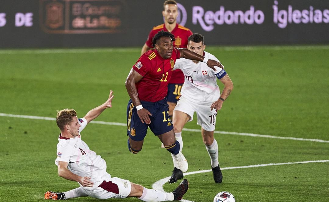 欧国联第三轮西班牙1:0瑞士,奥亚萨瓦尔打进全场唯一进球-5