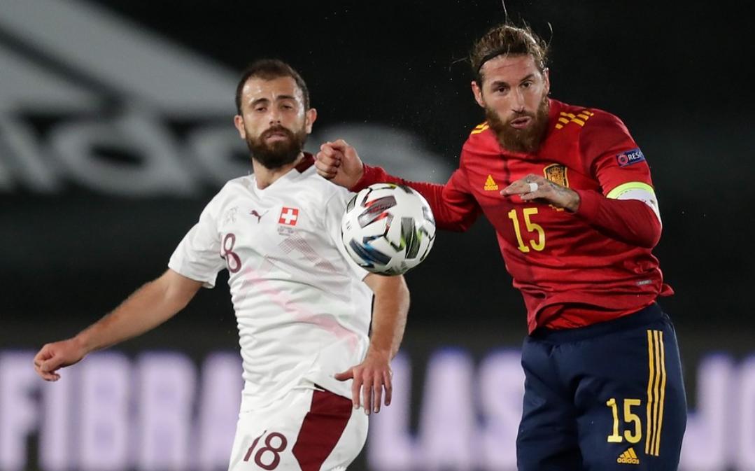 欧国联第三轮西班牙1:0瑞士,奥亚萨瓦尔打进全场唯一进球-6