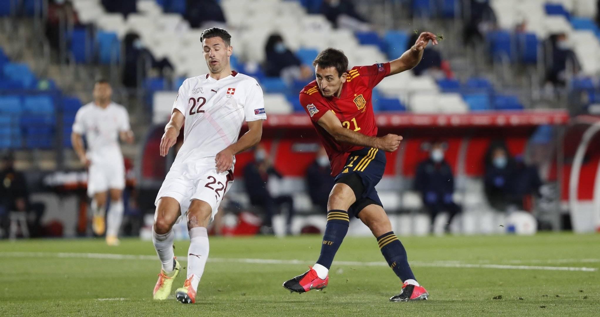 欧国联第三轮西班牙1:0瑞士,奥亚萨瓦尔打进全场唯一进球-8