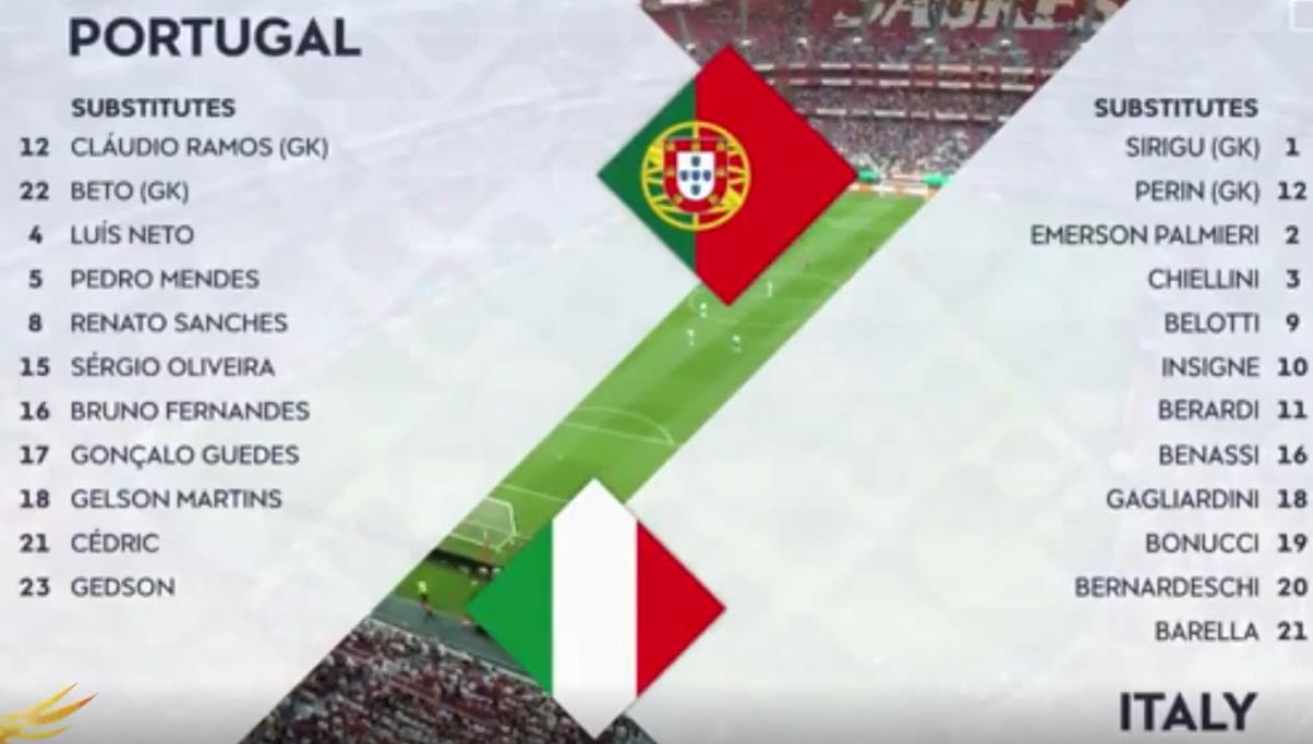 欧国联-葡萄牙1-0意大利-视频集锦