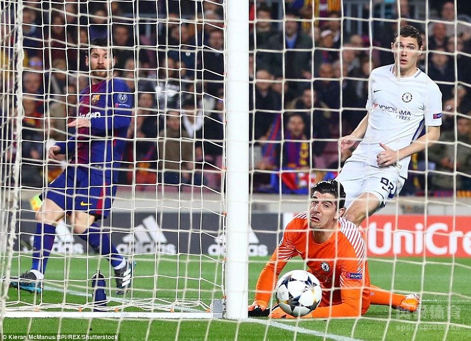 欧冠-巴塞罗那3-0完胜切尔西 梅西两射一传