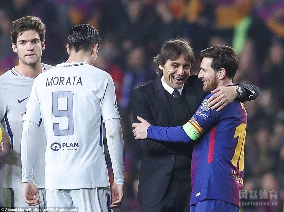 巴塞罗那3-0完胜切尔西,梅西两传一射登贝莱打进巴萨生涯处子球。