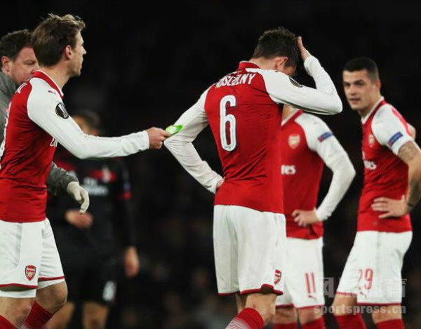 欧联杯1/8第二回合,阿森纳主场3:1总比分5:1击败AC米兰,晋级8强