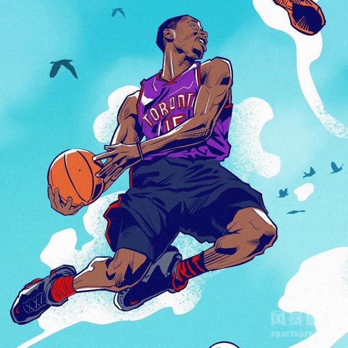 NBA各路扣篮大神漫画图集