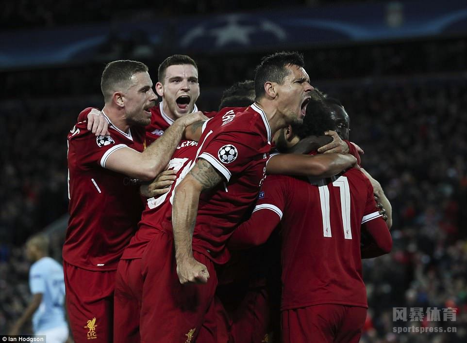欧冠:利物浦3-0大胜曼城 萨拉赫传射马内破门