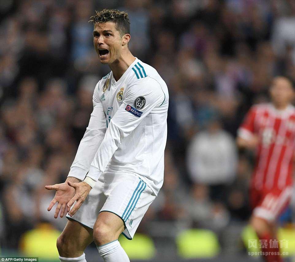 17/18赛季欧冠半决赛次回合,皇马主场2-2战平拜仁,总比分4-3挺进决赛。