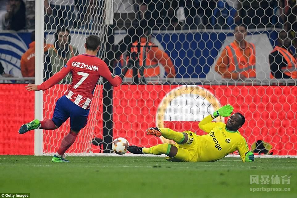 欧联杯决赛:格里兹曼梅开二度 马竞3-0马赛