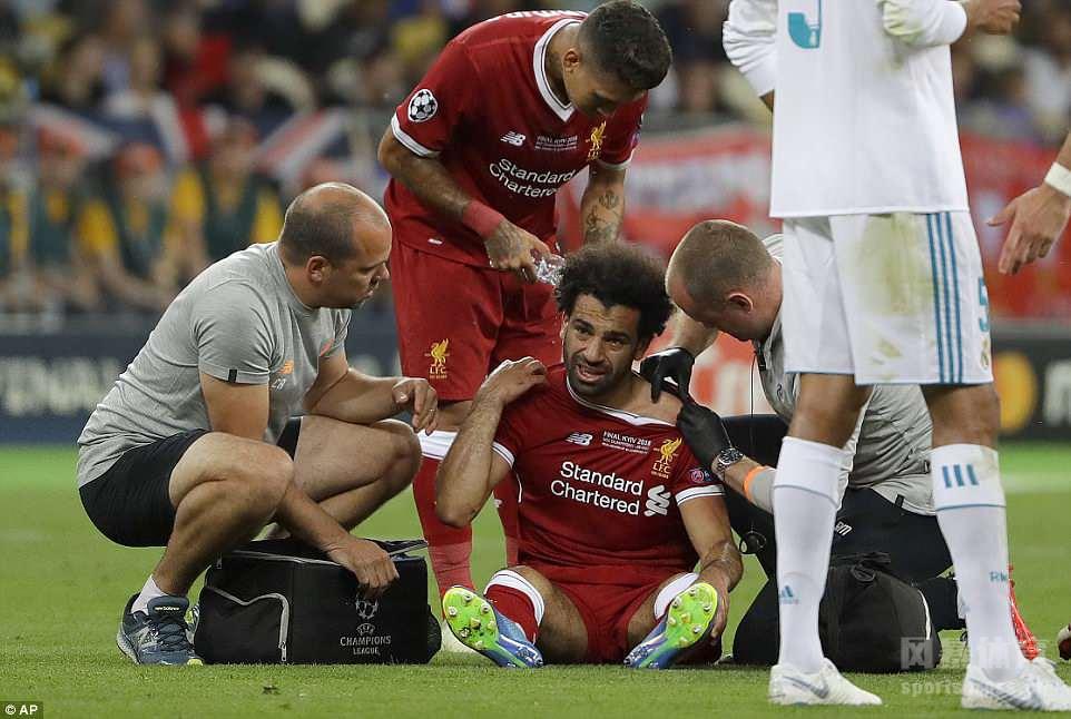 欧冠决赛贝尔2球萨拉赫伤退 皇马3-1利物浦夺三连冠