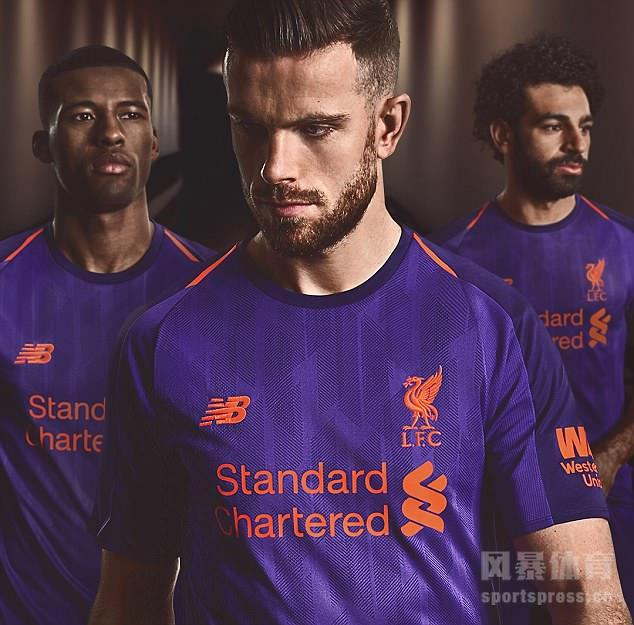 利物浦2018/19新赛季客场球衣震撼发布