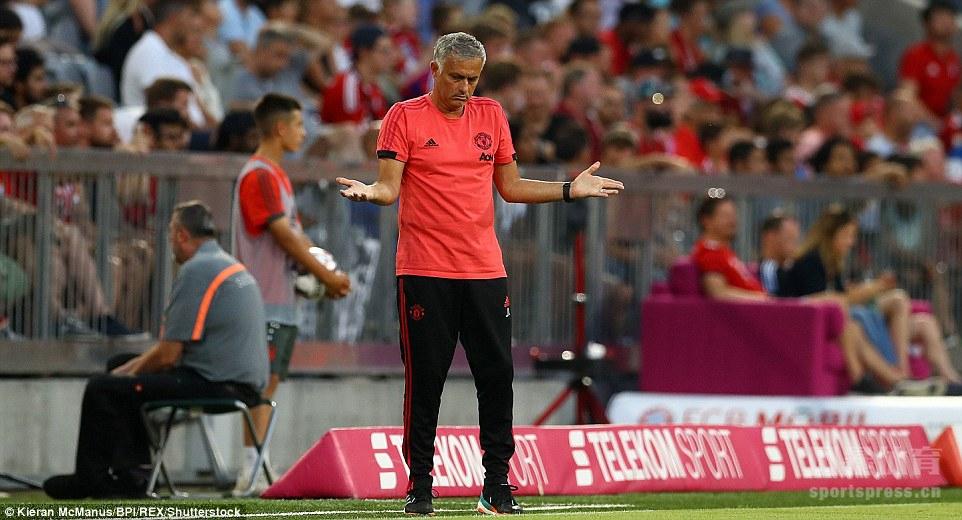 曼联以0-1负于拜仁,全场射门比为1比12,控球率曼联仅28%。穆帅再次演绎大巴战术。