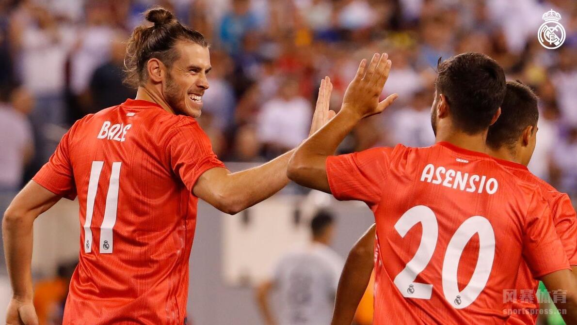 国际冠军杯继续进行,阿森西奥和贝尔进球,斯特罗曼扳回一球,皇马2-1击败罗马。