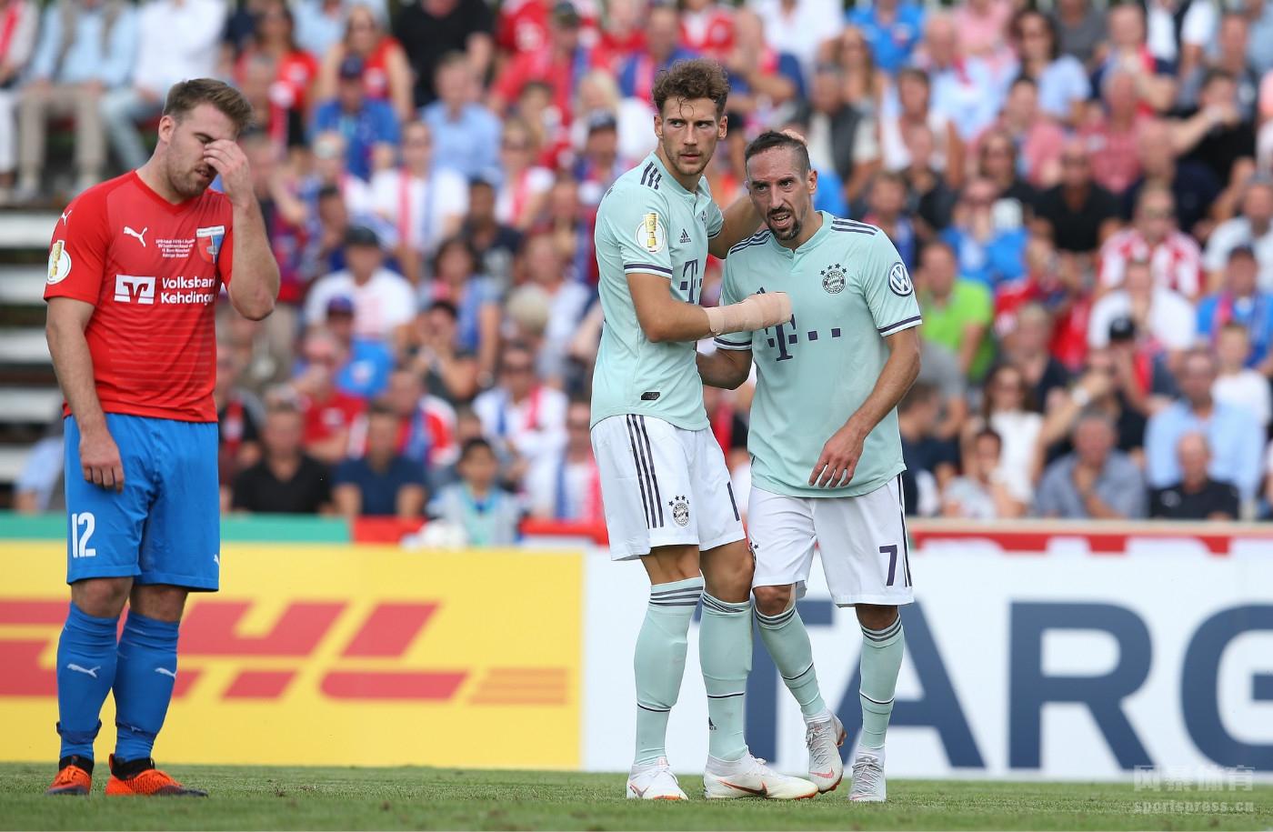 德国杯首轮 德罗科特森0-1拜仁 莱万破门制胜
