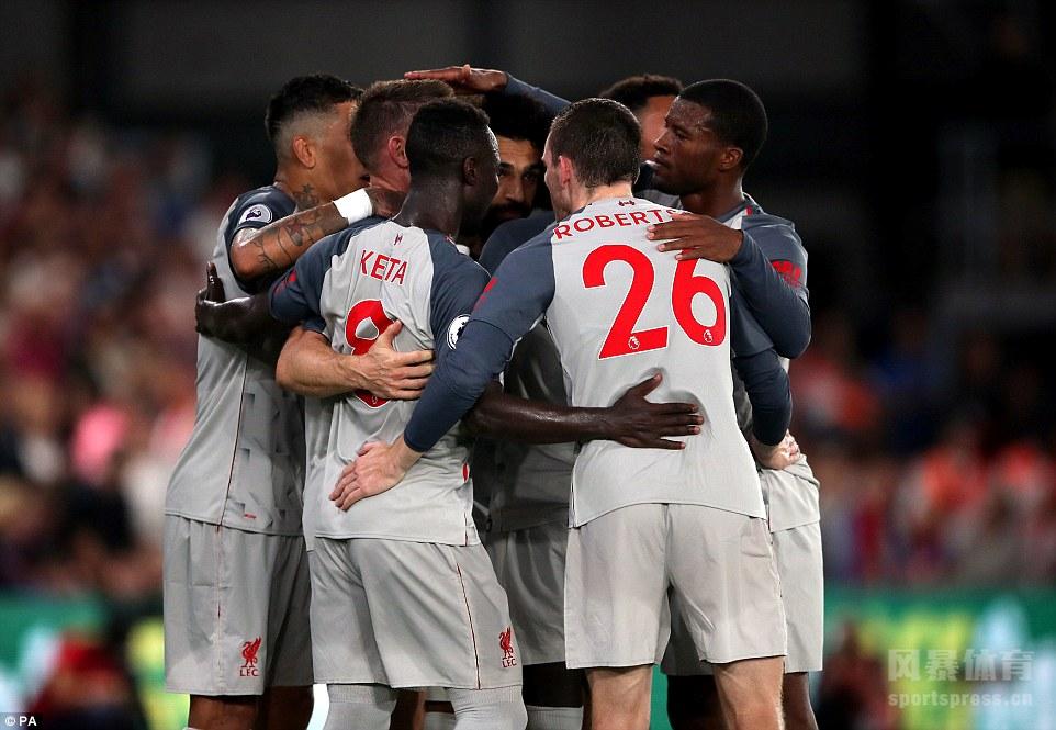 英超 利物浦2-0水晶宫 萨拉赫造点+造红 马内建功
