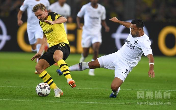 德甲第3轮多特蒙德3-1法兰克福 帕科收获处子球