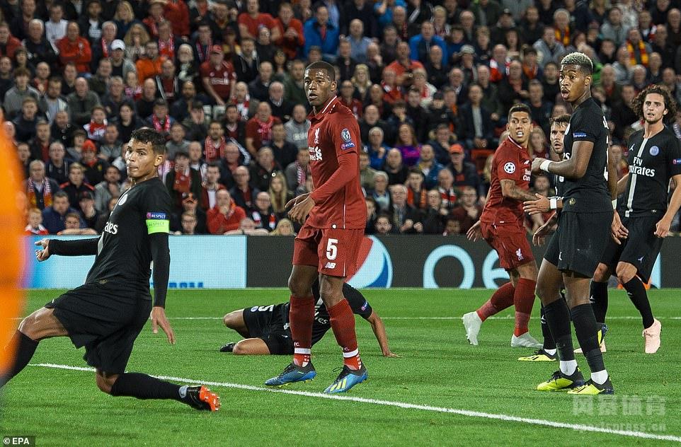 欧冠 利物浦3-2巴黎 菲尔米诺米尔纳建功 斯图里奇绝杀