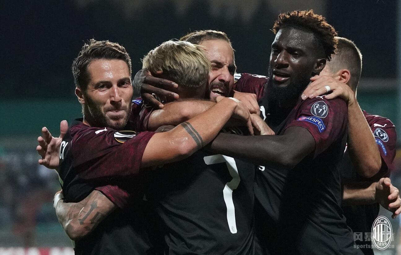 欧联杯-伊瓜因连场进球 AC米兰一球客胜迪德朗日