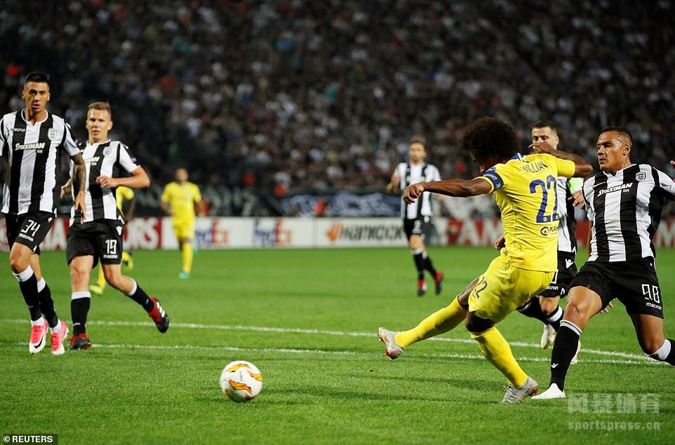 塞萨洛尼基0-1切尔西