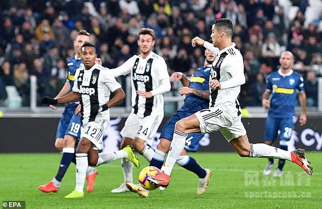 曼祖基奇破门C罗意甲第9球 尤文2-0斯帕尔