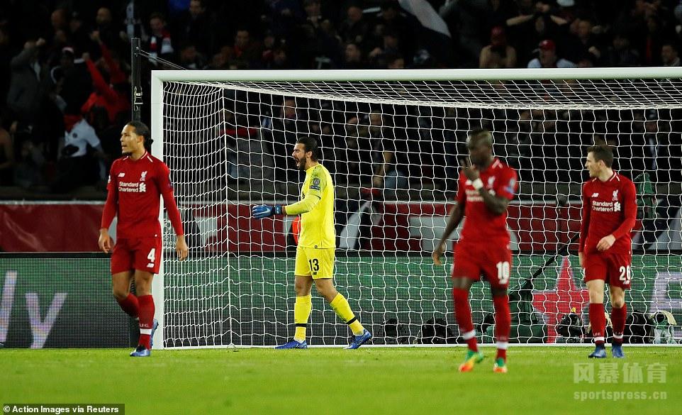 贝尔纳特内马尔破门米尔纳点射 巴黎2-1利物浦