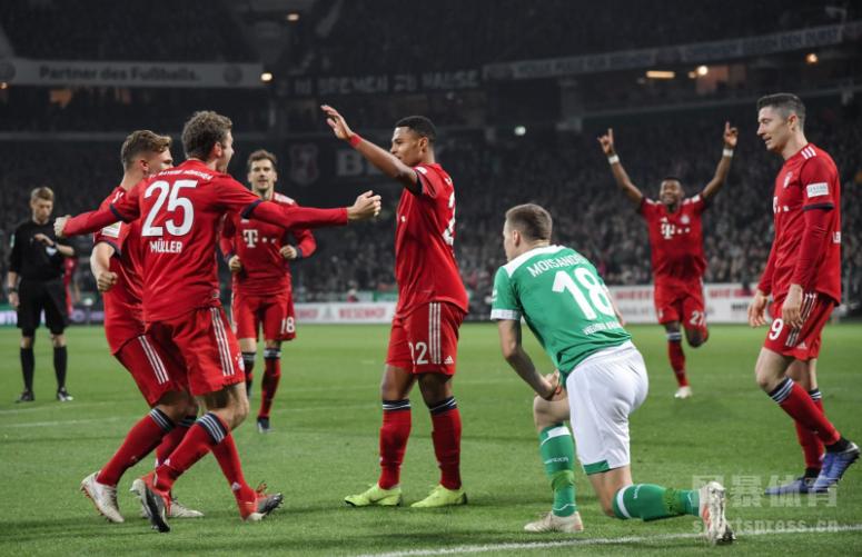 格纳布里两破旧主球门日本锋霸进球 拜仁2-1不莱梅