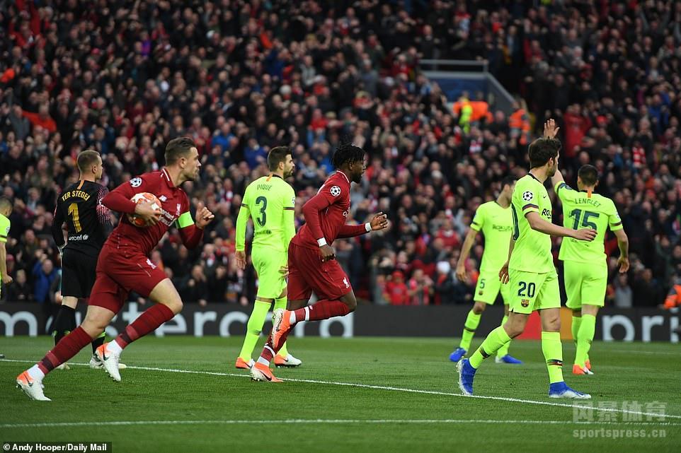 欧冠-利物浦4-0完胜巴萨 总分4-3奇迹逆转晋级决赛