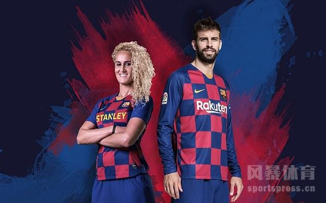 巴萨公布下赛季主场球衣 格子纹颠覆传统设计