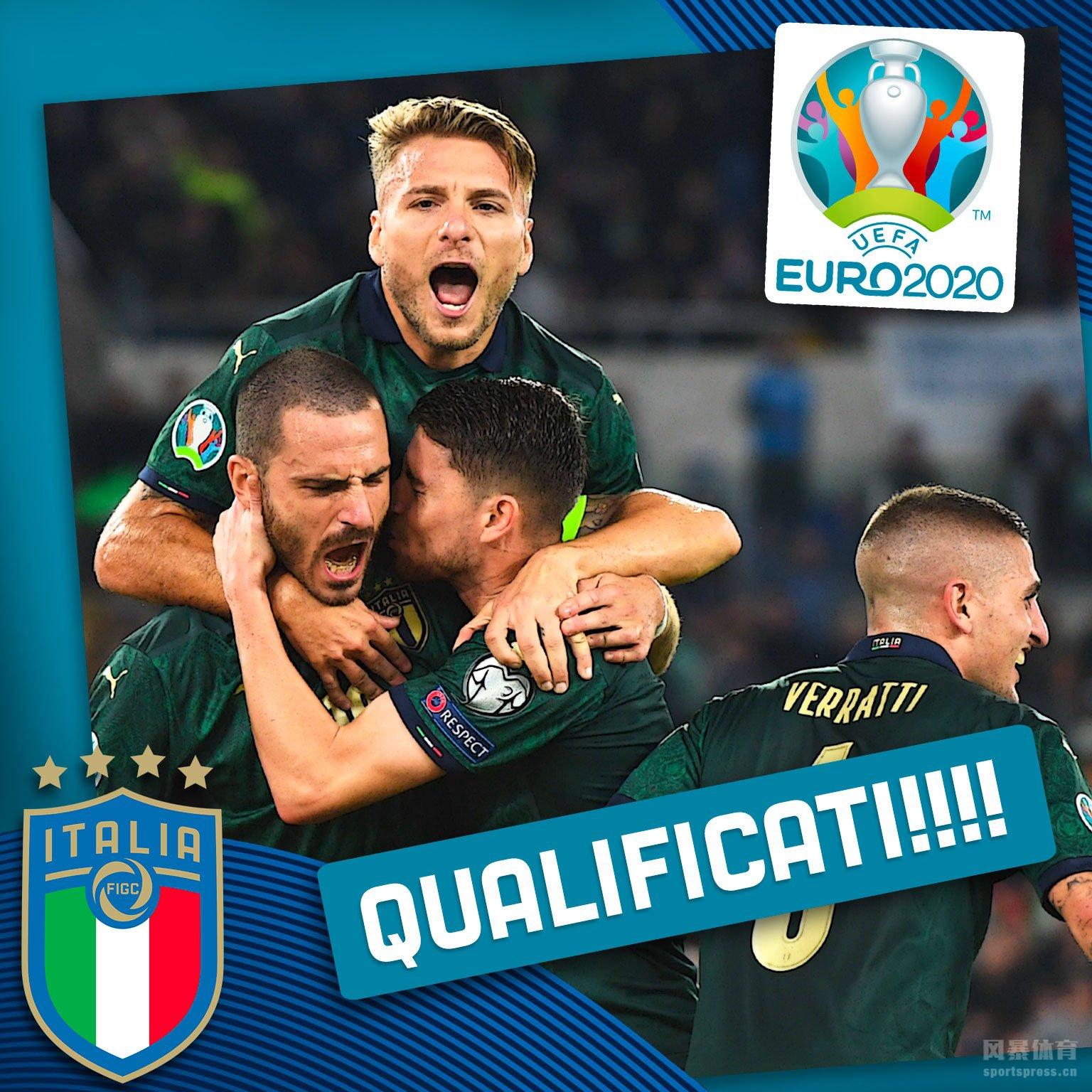 意大利队2-0希腊队提前出线