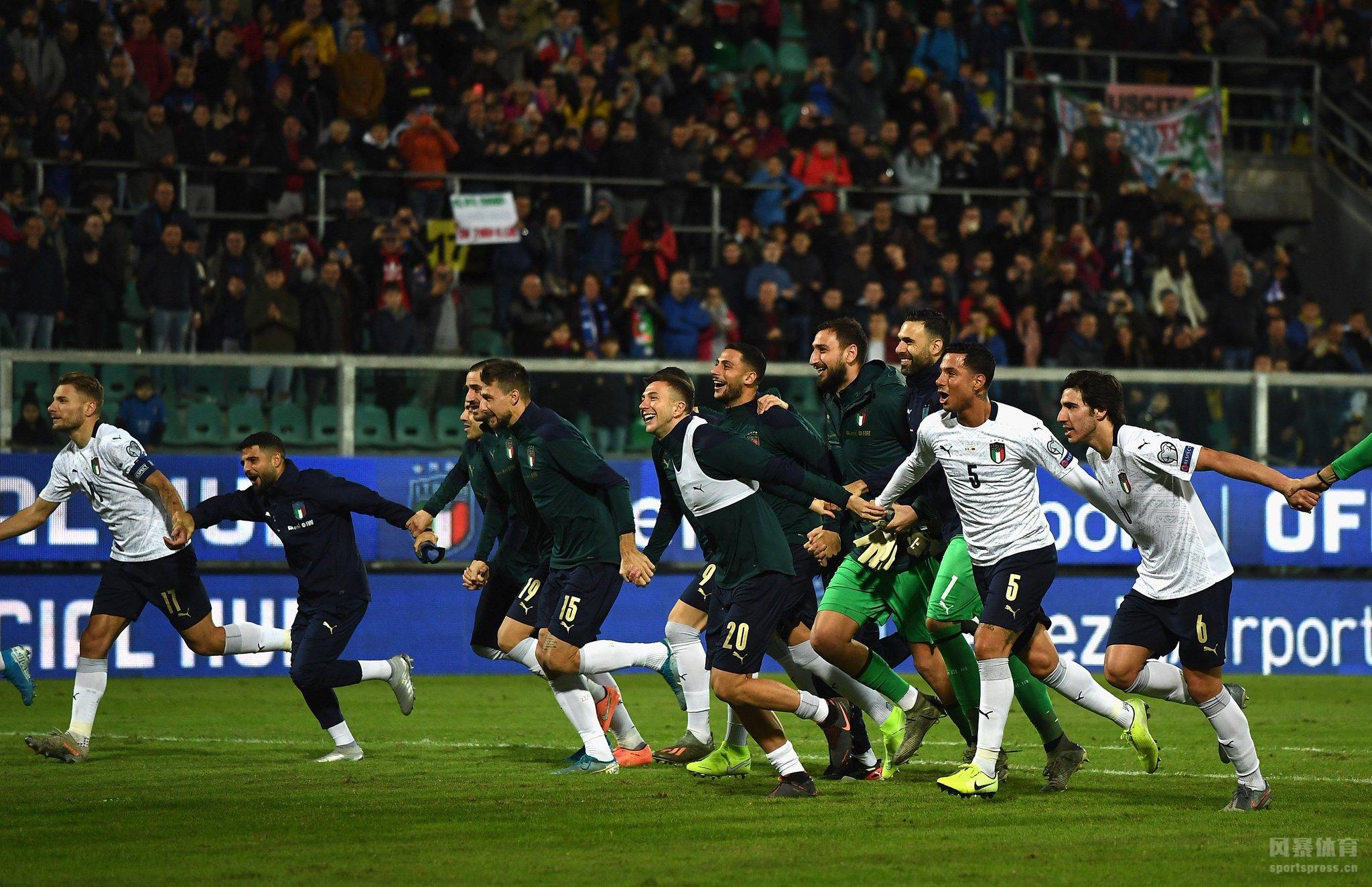 2020年欧洲杯预选赛继续进行,意大利主场迎战亚美尼亚。