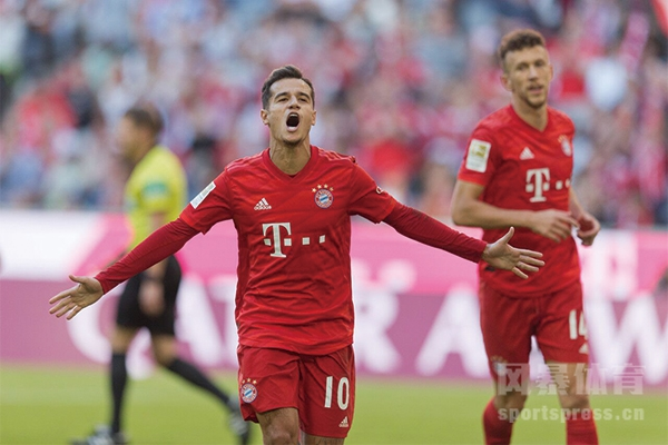 拜仁慕尼黑重新回到了德甲积分榜的前四位