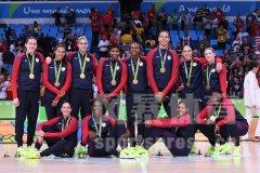 2016年里约奥运会女篮颁奖仪式