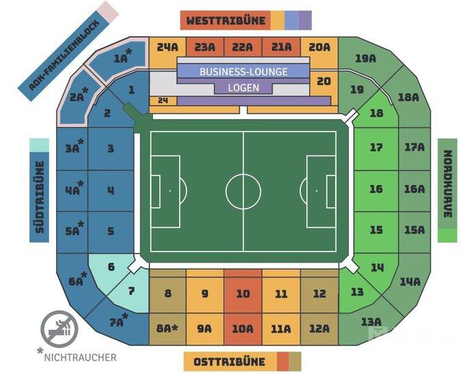 普鲁士公园球场座位区域图