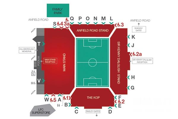 安菲尔德球场座位图
