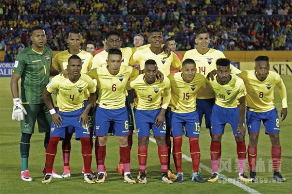 厄瓜多尔球员合影