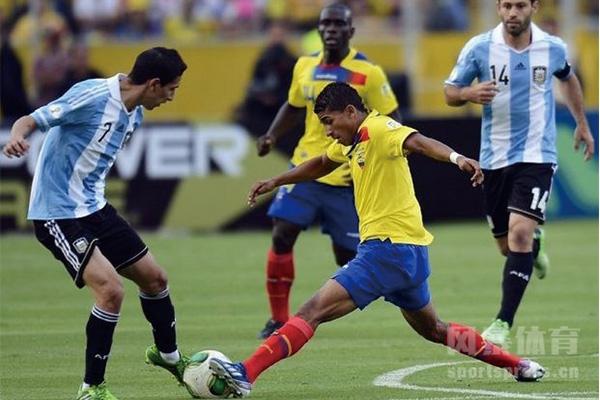 厄瓜多尔与阿根廷队比赛