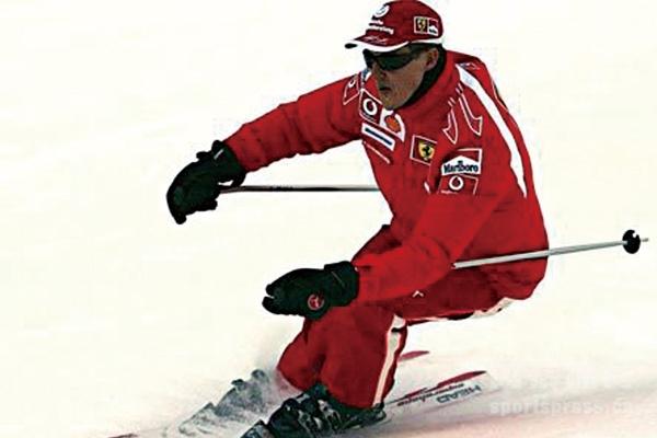 舒马赫在滑雪时重伤摔到头部