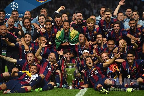 巴萨击败尤文获得欧冠冠军