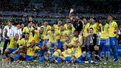 2019美洲杯冠军巴西颁奖时刻精彩图集