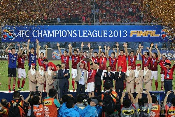 广州恒大获得2013年亚冠冠军