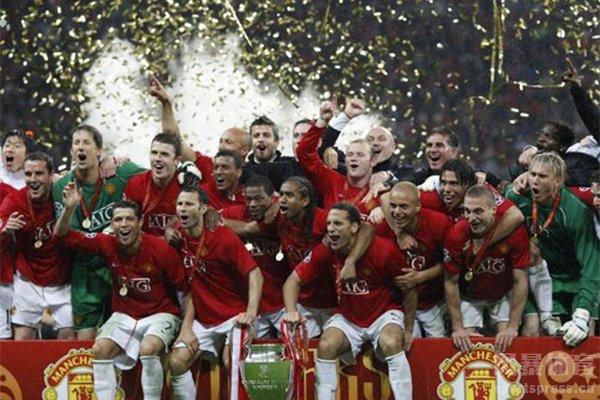 曼联曾三次获得欧冠冠军