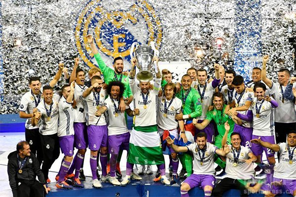 皇马获得13次欧冠冠军