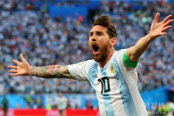 当梅西世界杯打入进球时比任何进球都高兴