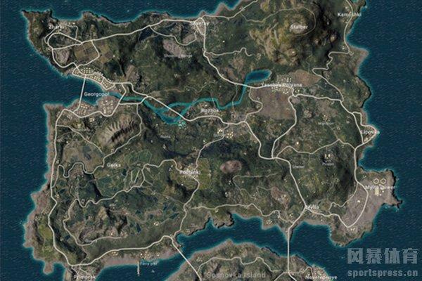 绝地求生海岛图