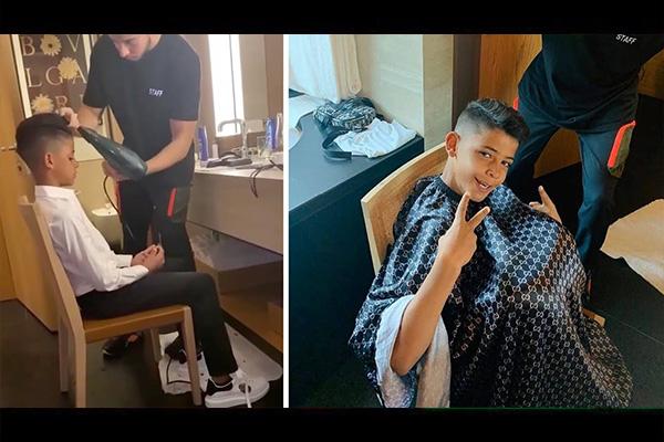 C罗儿子变得越来越帅!盘点C罗儿子做C罗的发型!