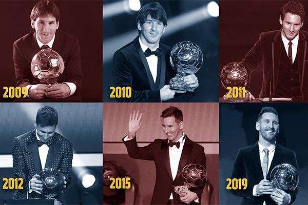 <b>梅西金球奖的6座来历!世界足球第一人当之无愧!</b>